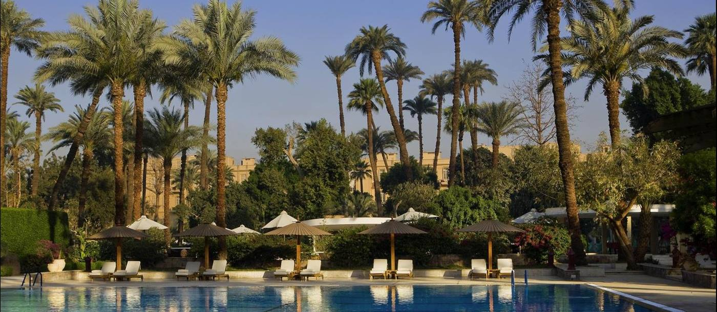 Swimming pool at the Sofitel Winter Palace Luxor