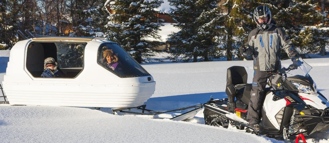 Snowmobile Shuttle at L7 Luxury Lodge