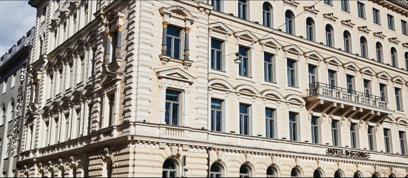 Exterior Facade of St George Hotel in Helsinki Finland
