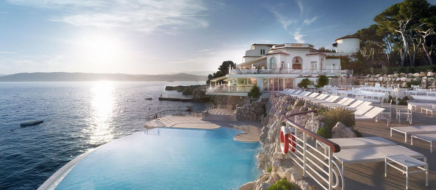 Aerial pool view of Hotel du Cap-Eden-Roc in France