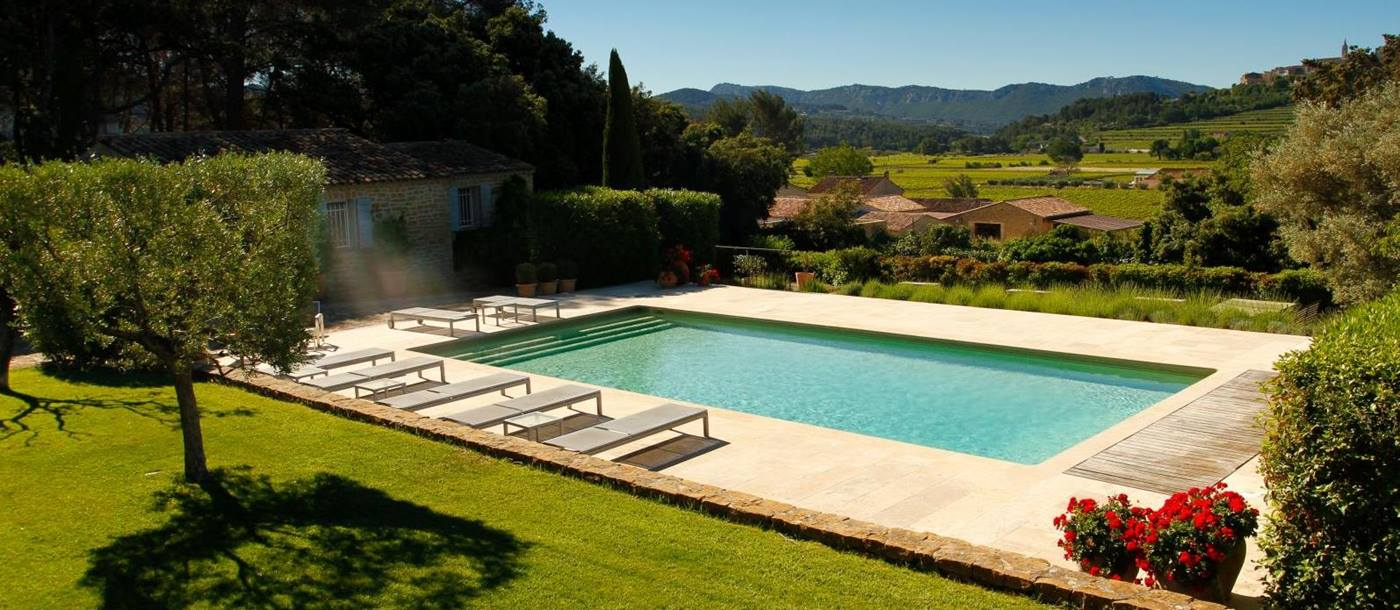 Swimming pool and view from La Cadiere, Cote dAzur