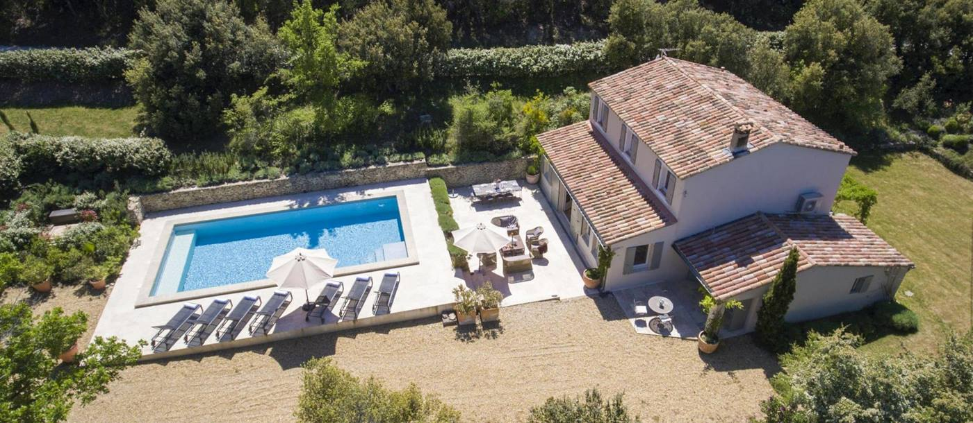 Aerial view of Mas du Buis, Provence