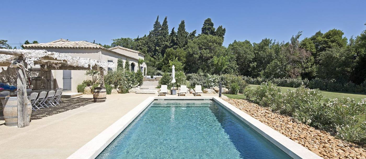 Swimming pool at Villa Adelaine, Provence