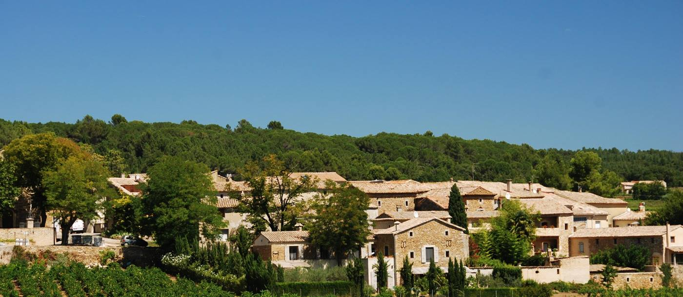 view of village from Villa Romaine, Provence