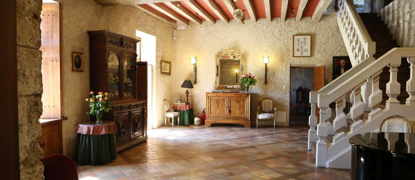 Hall in Chateau Lenvege, South West France
