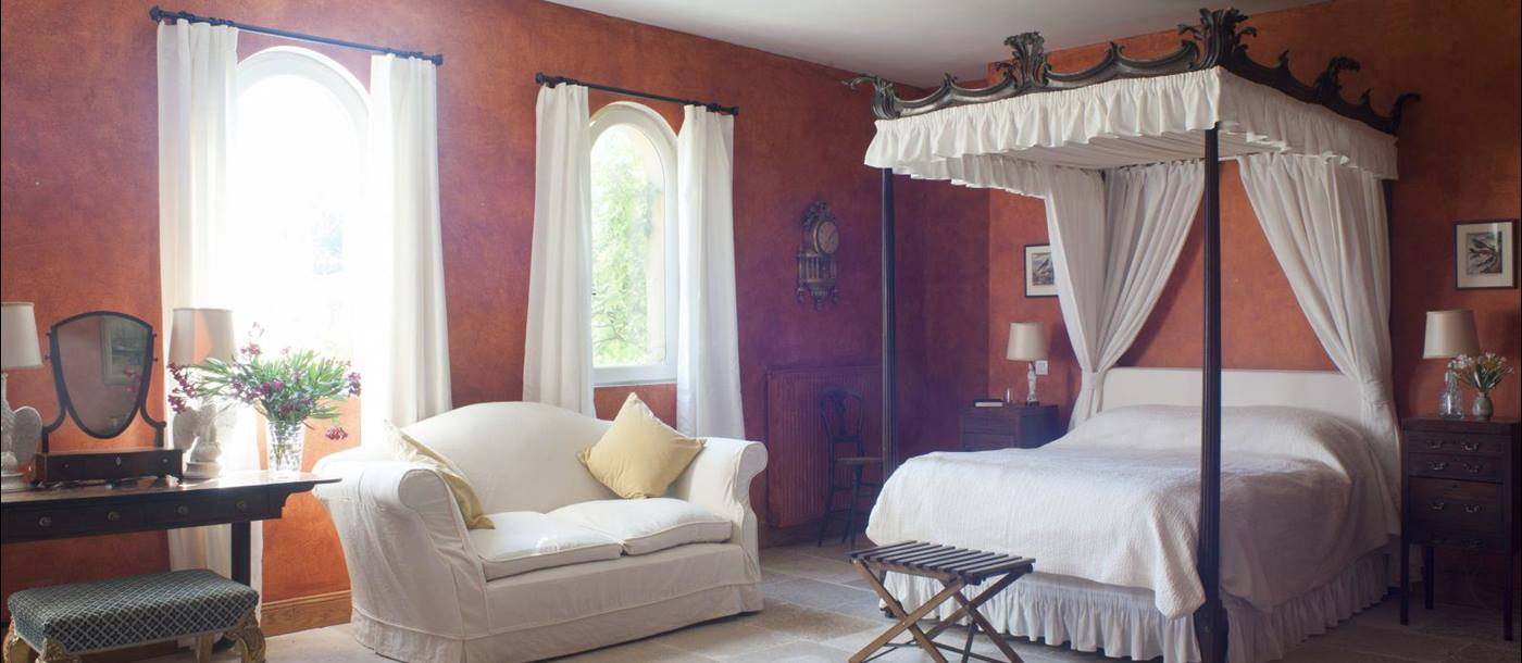 a double bedroom at domaine de corbieres