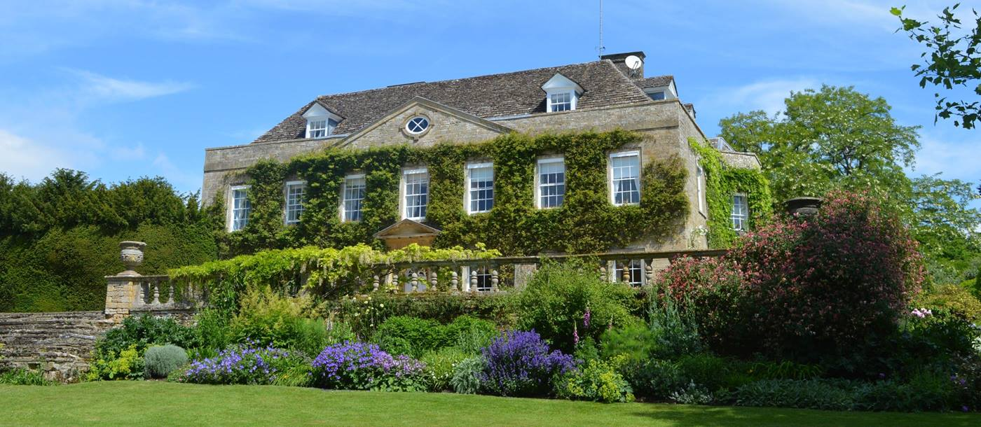 Facade with grounds of Cornwell Manor, Cotswolds