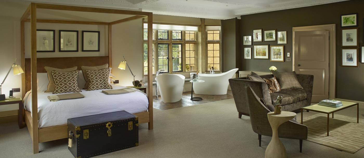 Ensuite bedroom in Foxhill Manor, Cotswolds