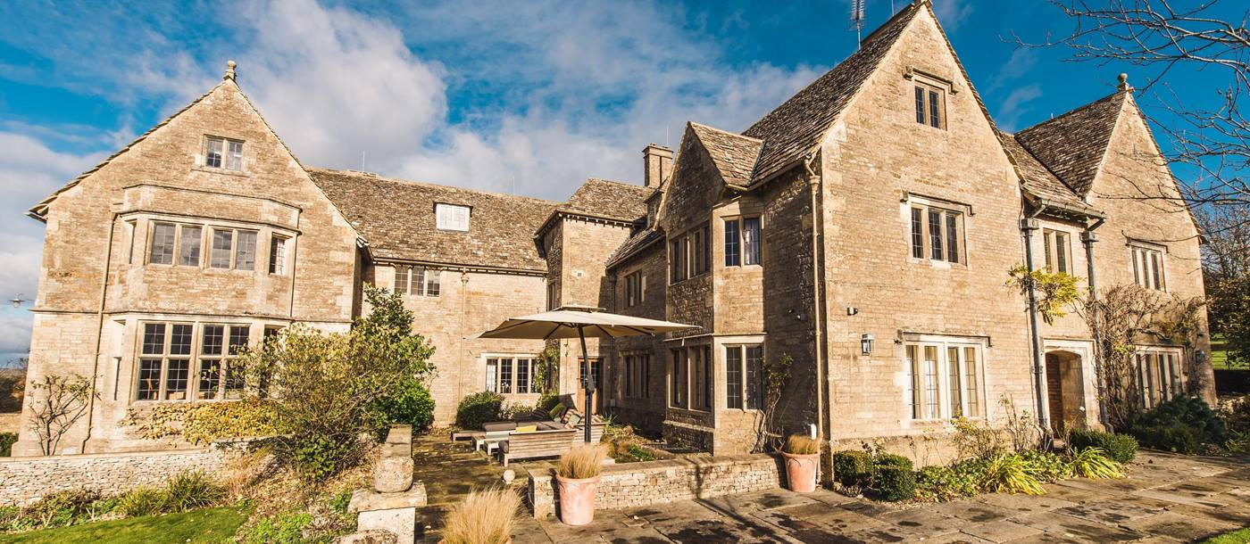 Exteriors of Manor in the Rissingtons, Cotswolds