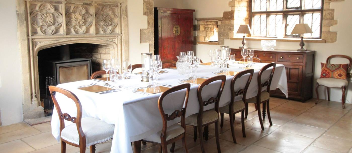 Dining room in Melksham Court, Cotswolds