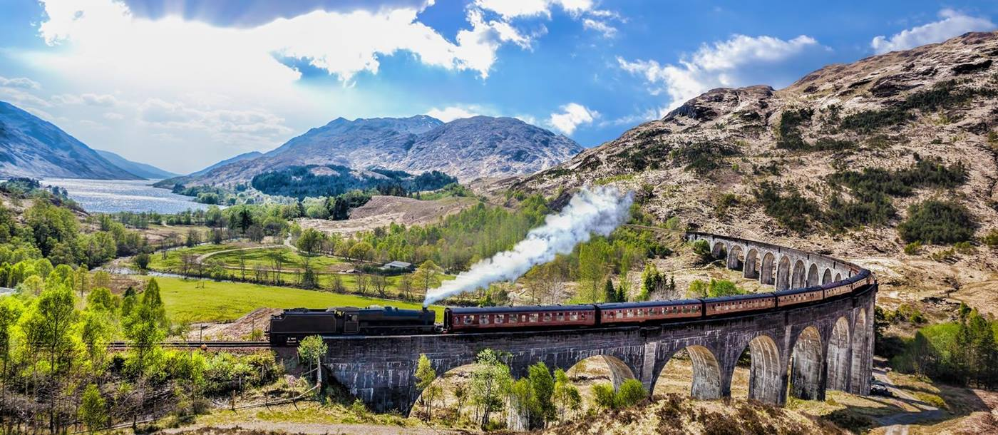 The Jacobite Steam train in Scotland