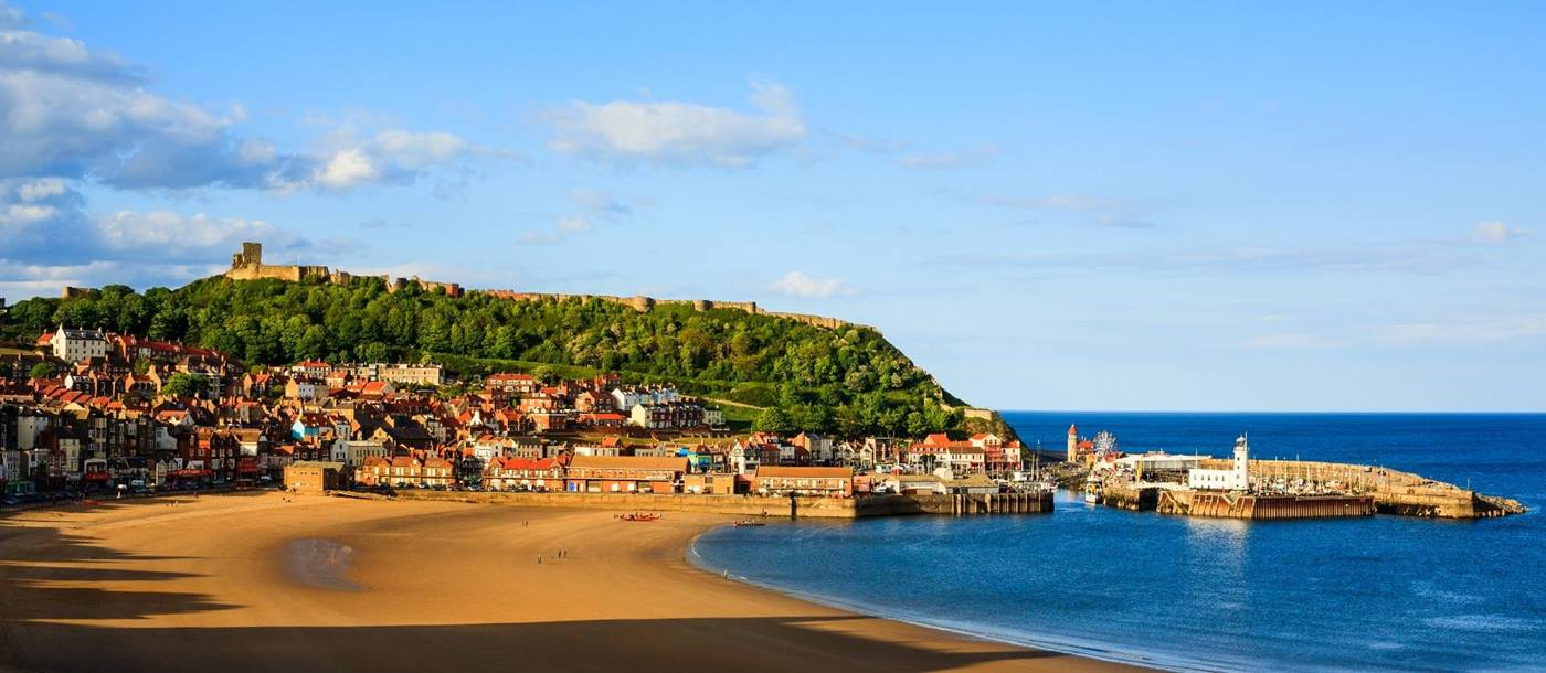 Scarborough beach, England