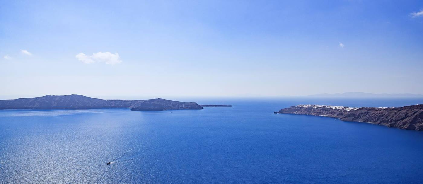 Sea view from Erossea on Santorini, Greece