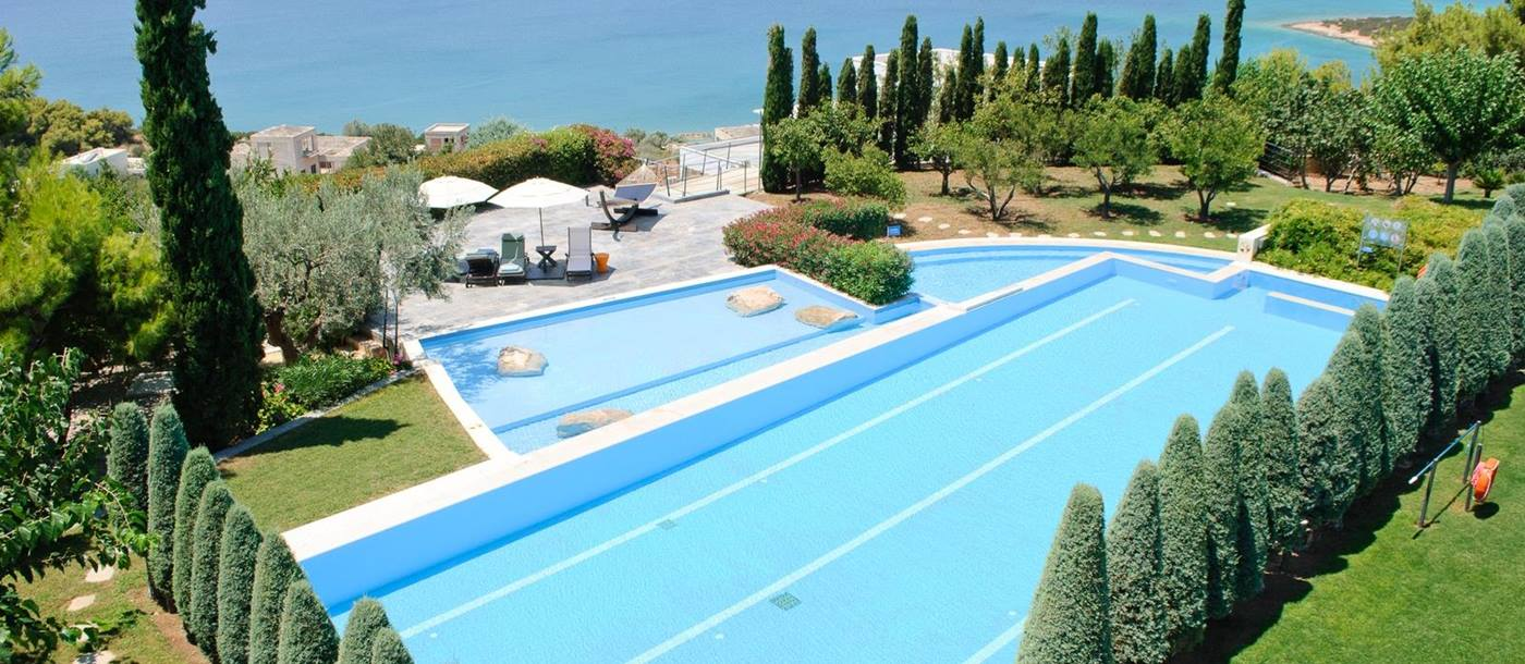 swimming pool of Seafront Villa, Greece