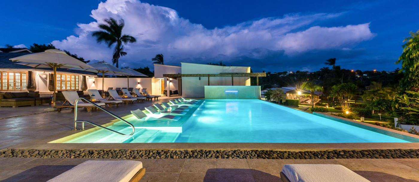 the main pool of Calabash Hotel, Grenada