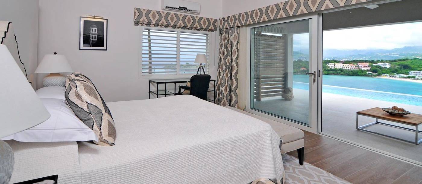 Master bedroom of a villa at Laluna, Grenada
