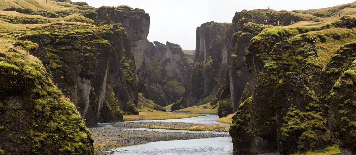 Canyon in summer in Iceland