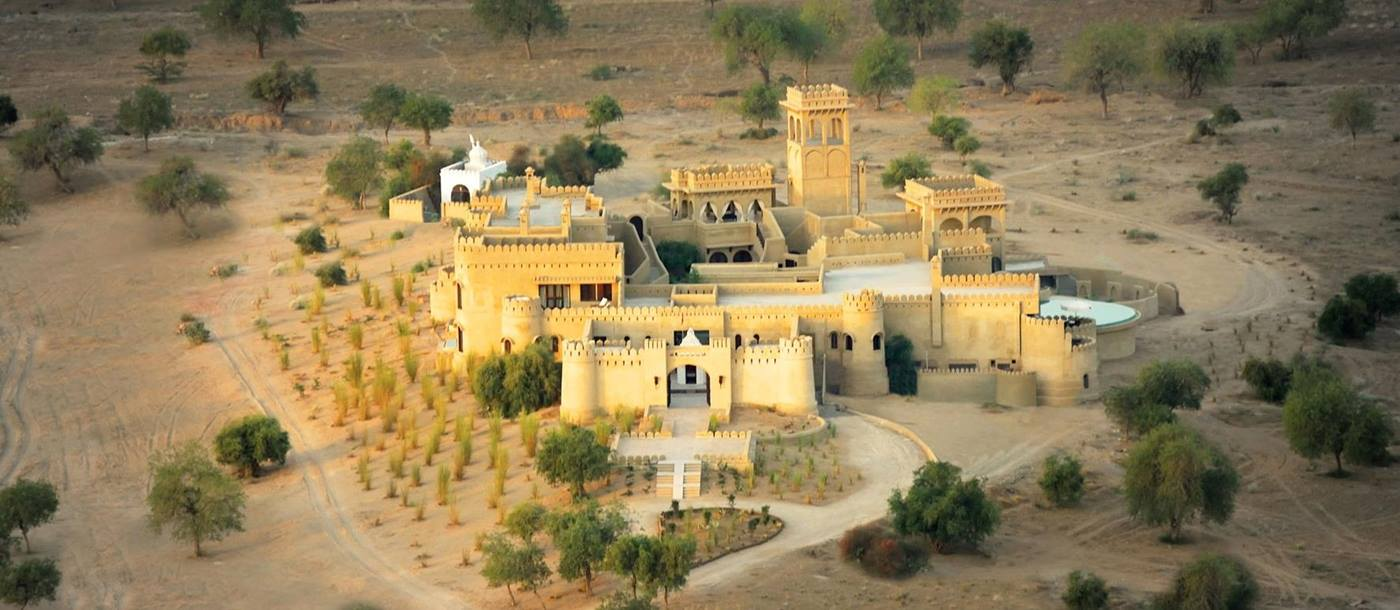 Aerial shot of Mihir Garh, India