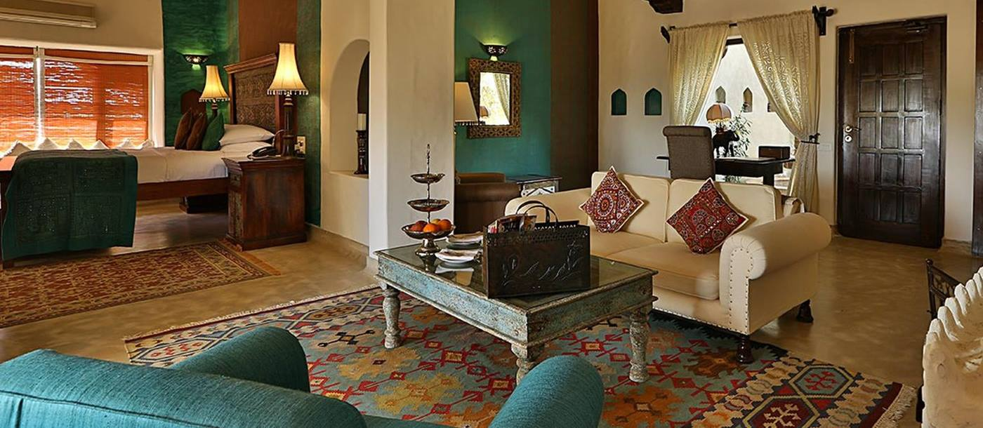Suite at the Mihir Garh hotel in India