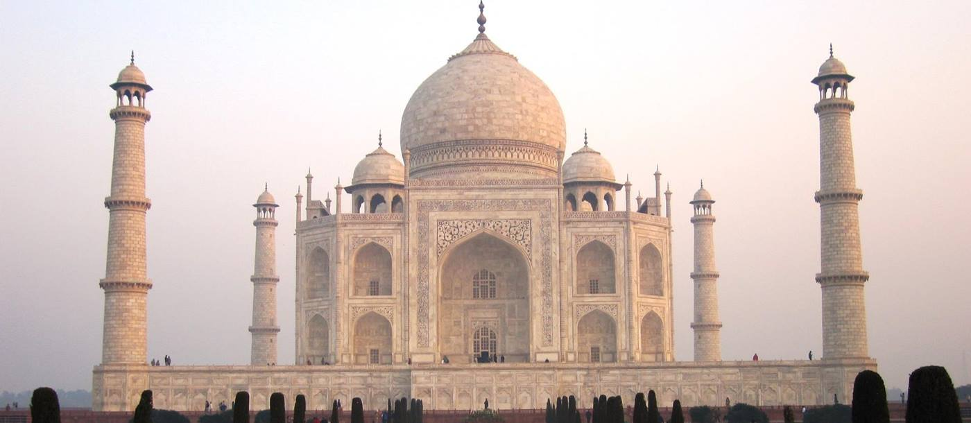 The Taj Mahal during dawn, India