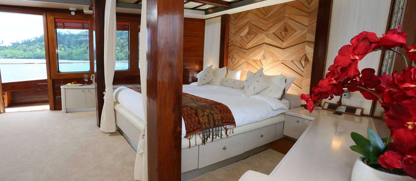 Master Bedroom on board Lamima in Indonesia
