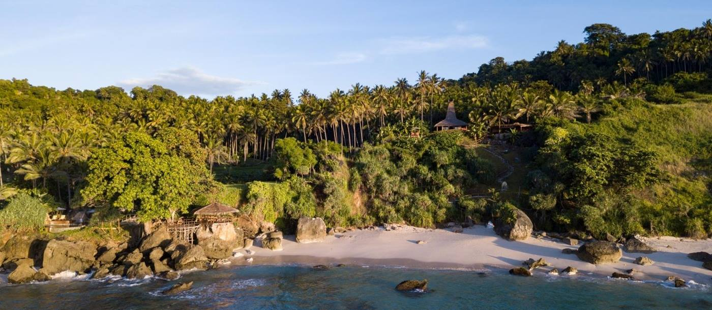 View of the Spa Cove from the Ocean at Nihi Sumba Indonesia