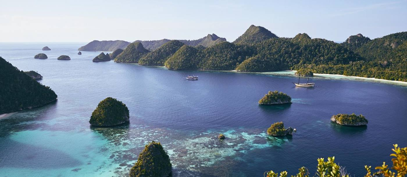 Silolona cruises through the karsts of Raja Ampat photo by John Laurie