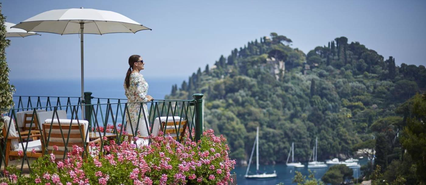 Picturesque views from Belmond Hotel Splendido Portofino Italy