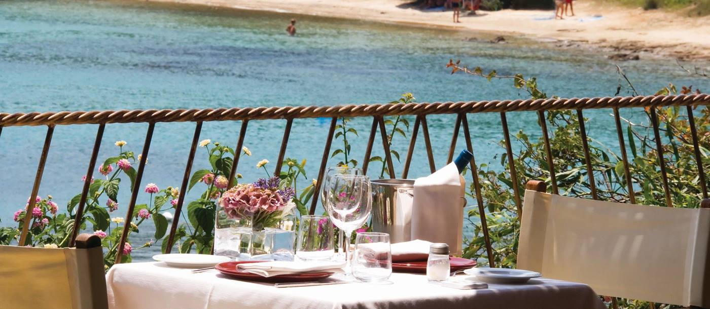 Outdoor dining at Capa d'Orso, Italy