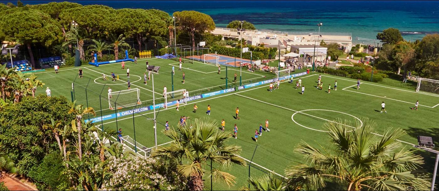 Footbal fields of Forte Village, Italy