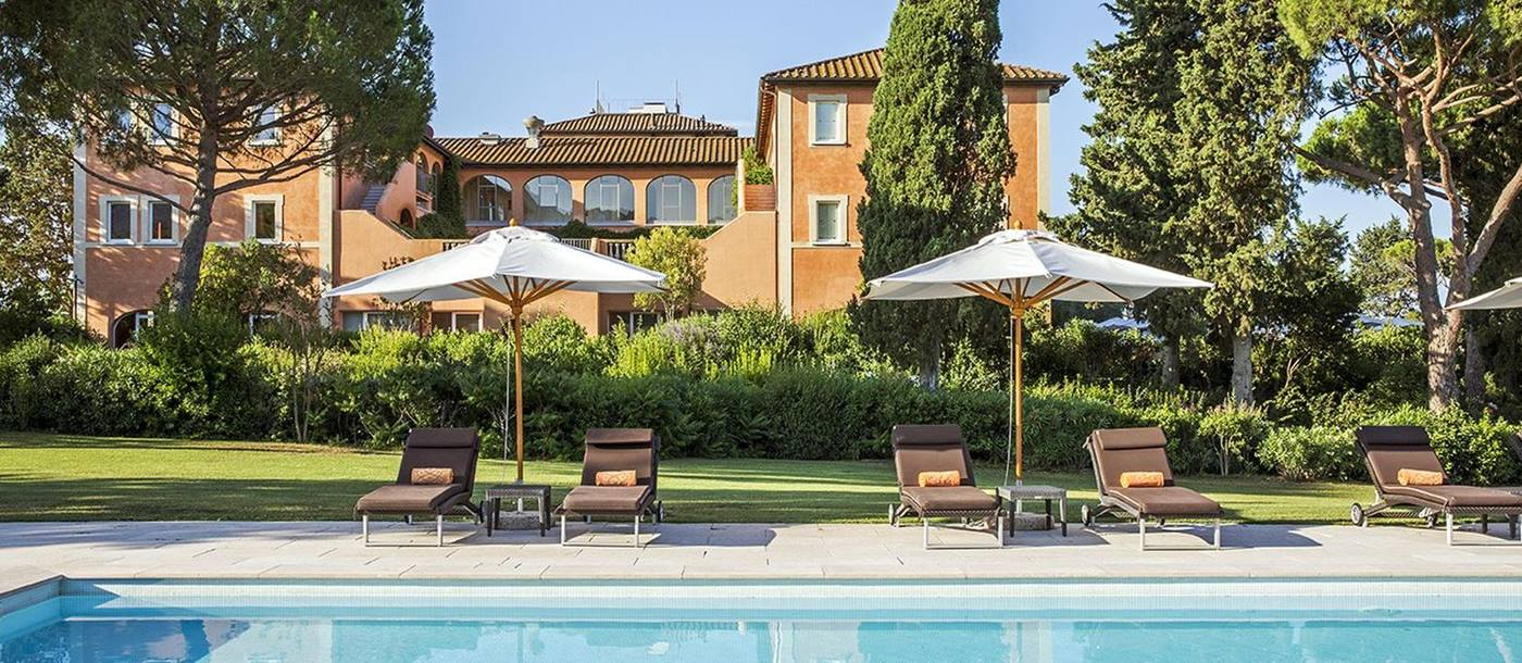 Outdoor pool at Hotel L'Andana in Tuscany