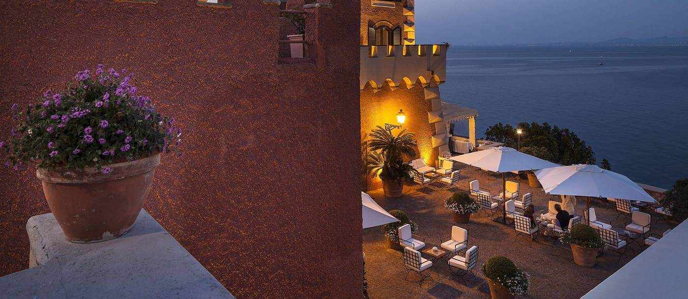 Terrace of Mezzatore Resort and Spa, Italy