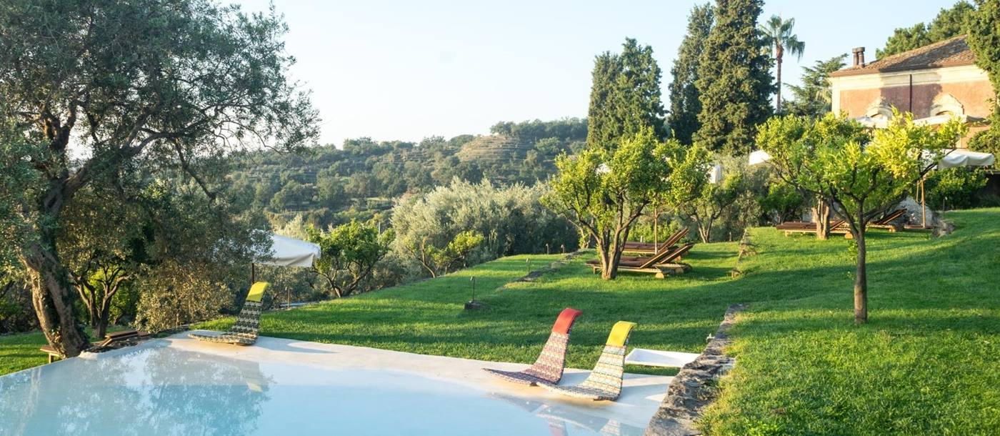 Pool and view at Monaci delle Terre Nere