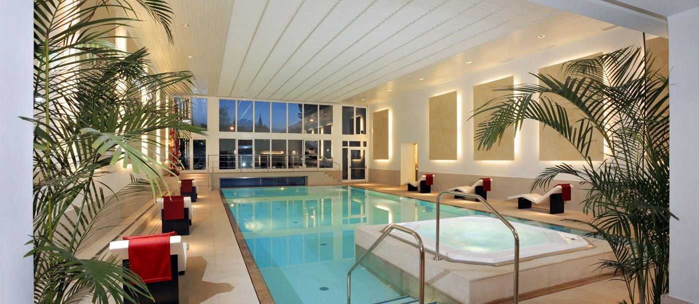 Indoor swimming pool of Palace Merano, Italy