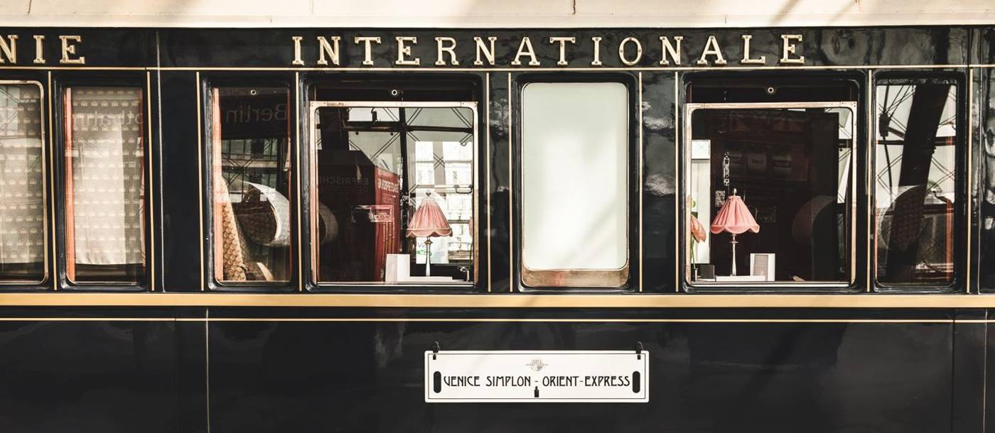 A carriage of the Venice Simplon Orient Express train