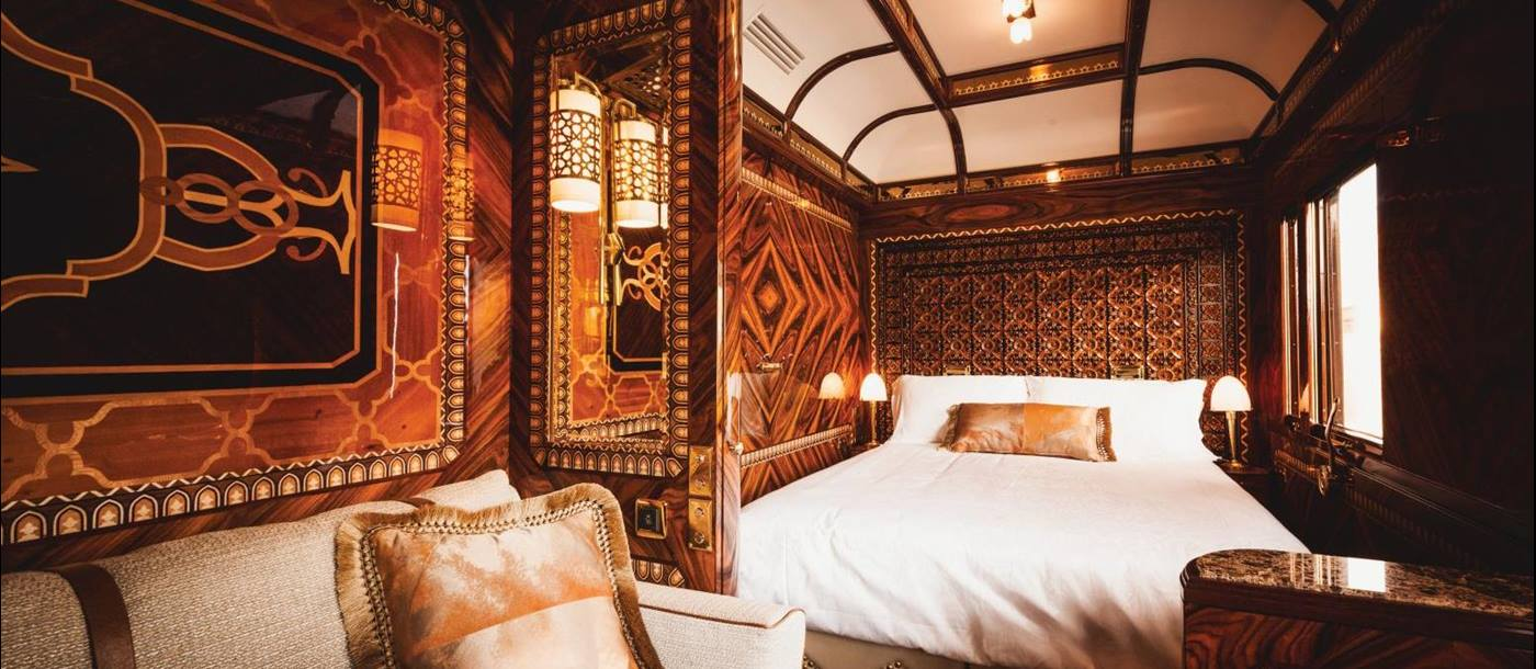 Inside a Grand Suite on board the Venice Simplon Orient Express train