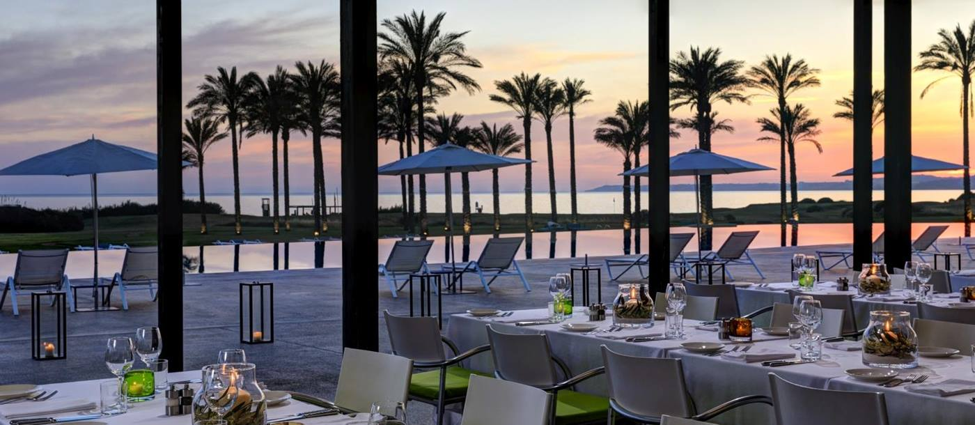 Outdoor dining at Buon Giorno Terrace at Verdura Resort in Italy