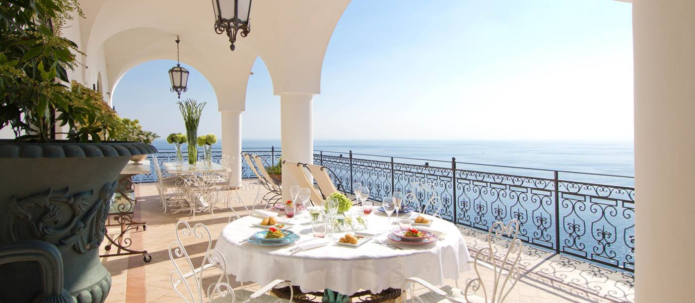 Terrace of Vilal Treville, Amalfi Coast