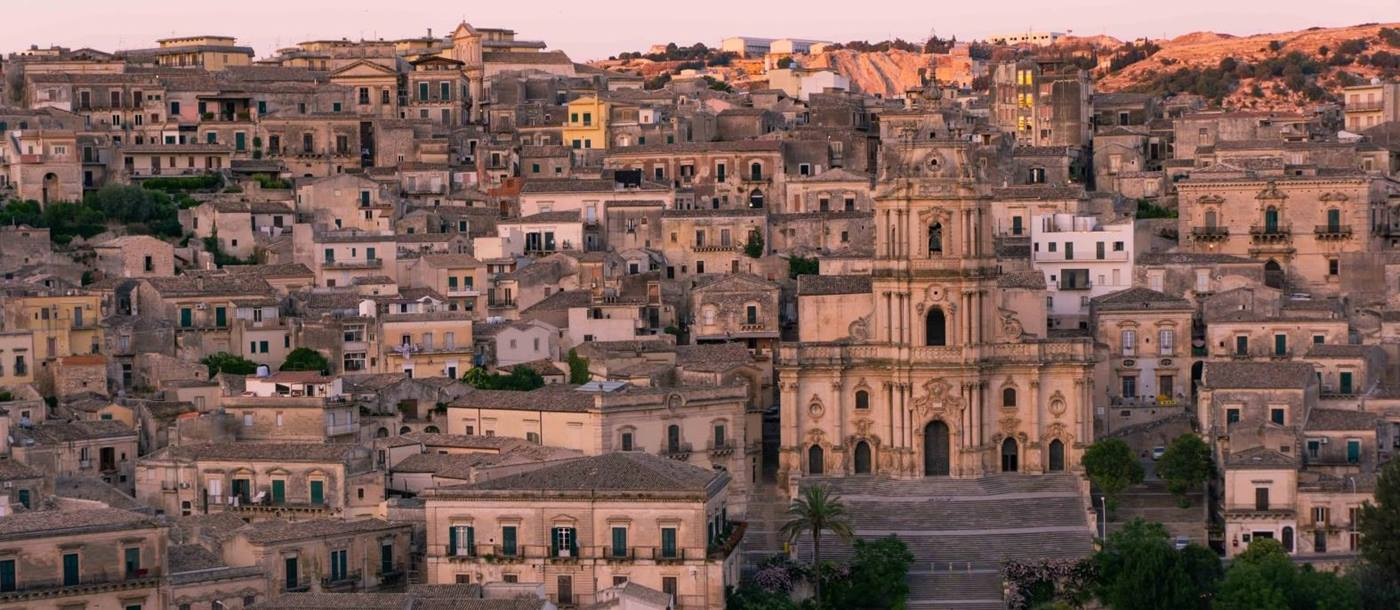 Modica town view in Sicily