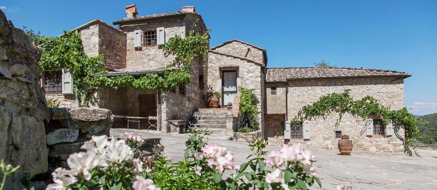 the exteriors of La Tenuta, Tuscany