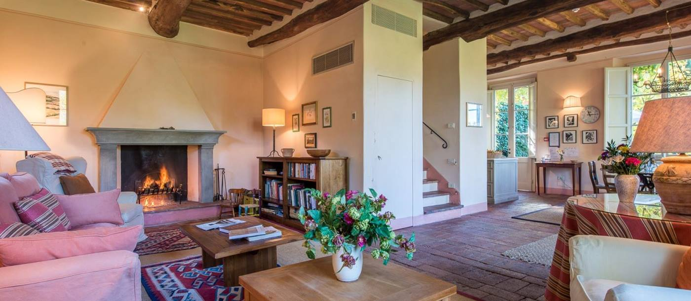 The piccola living room of l'Antico Mulino, Tuscany