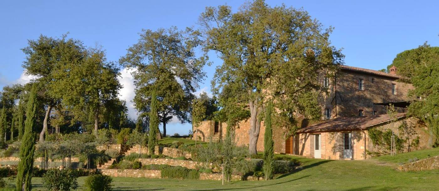 The gardens surrounding Podere Caterina