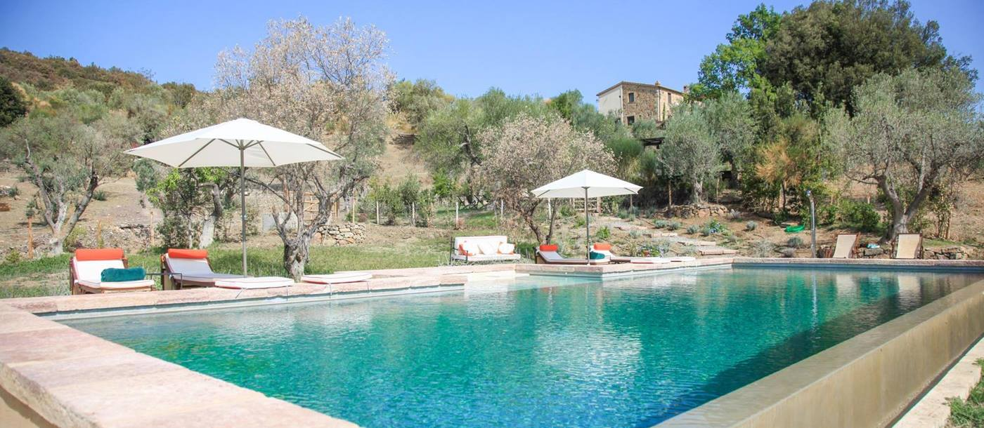Swimming pool of Villa dell'Abate, Tuscany