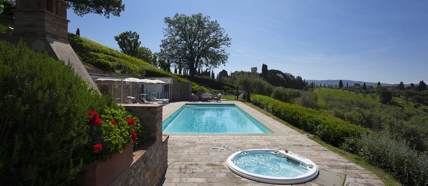 the swimming pool at villa di tignano