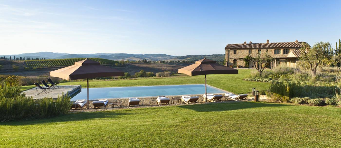 Swimming pool of Villa Gauggiole, Tuscany