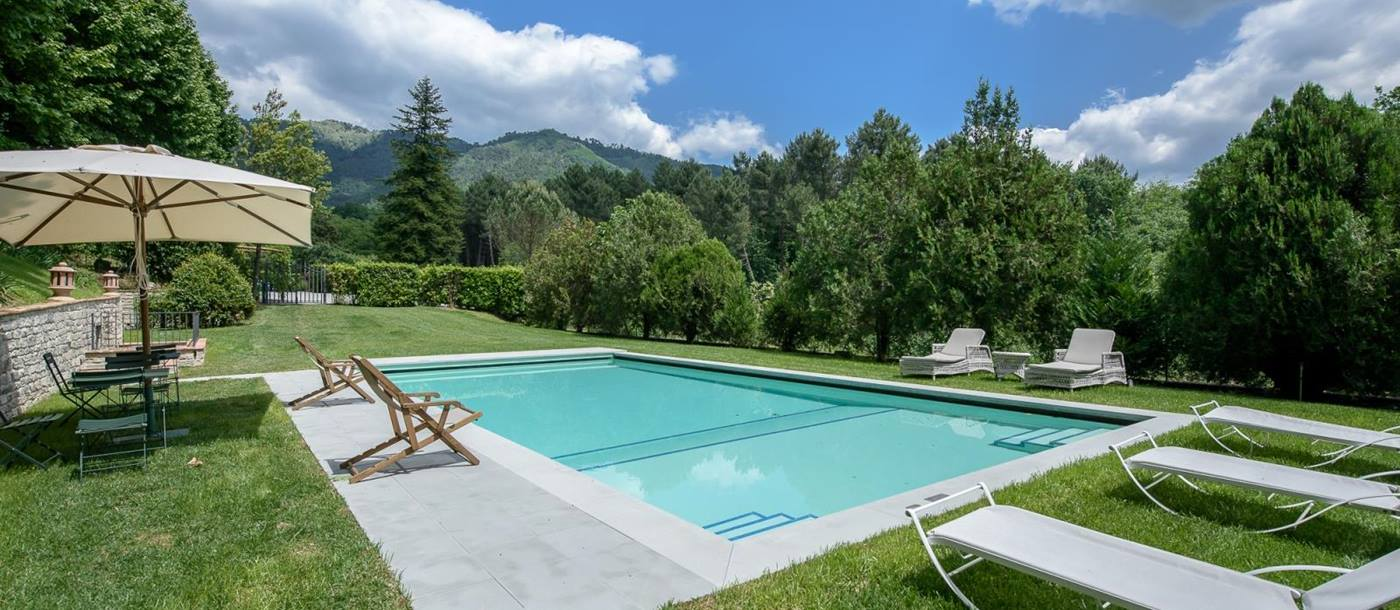 The swimming pool of Villa La Guardia, Tuscany