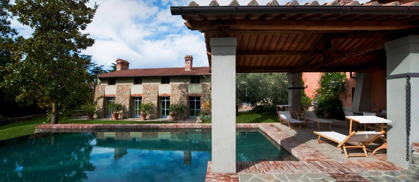 Swimming pool of Villa Magnolie, Tuscany
