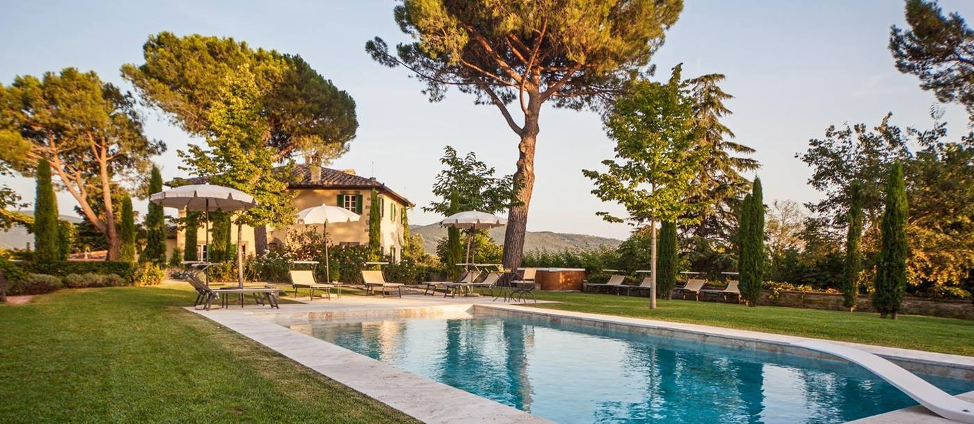 The swimming pool of Villa Nocciola, Tuscany