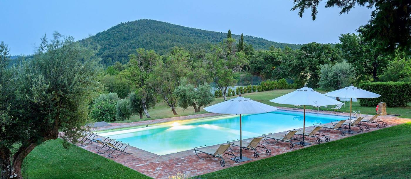 Swimming pool of l'Edera, Umbria
