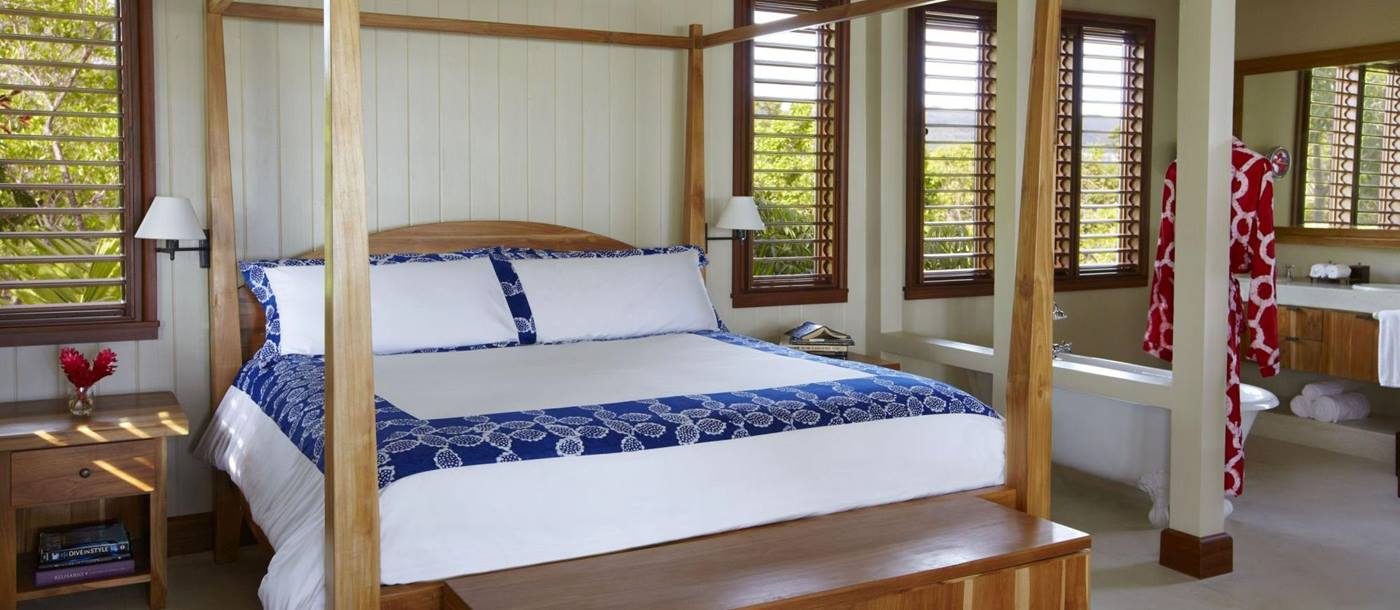 doulbe bedroom in Goldeneye Villas, Jamaica